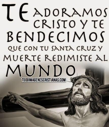 Imagen De Cristo En La Cruz Con Frase Cristiana