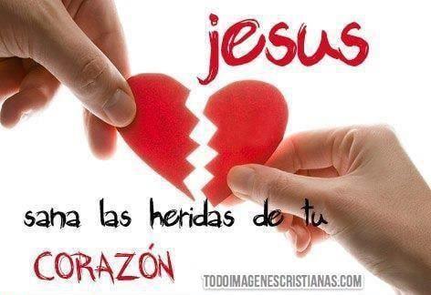 Imágenes cristianas: Jesús sana las heridas de tu corazón