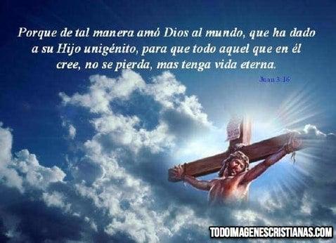 imagenes de jesus en la cruz con frases
