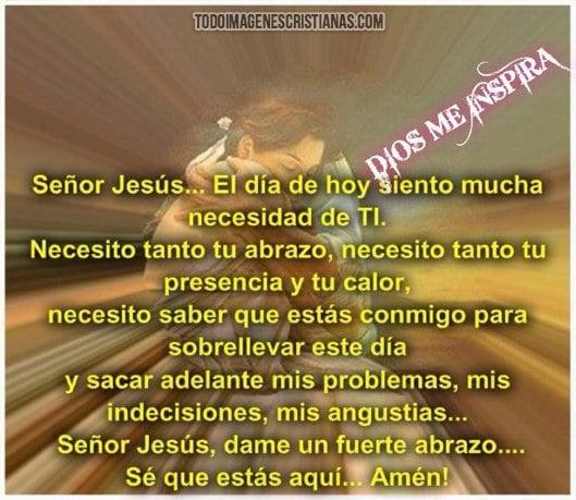 Imágenes Cristianas: Señor Jesús, dame un fuerte abrazo - Imágenes ...