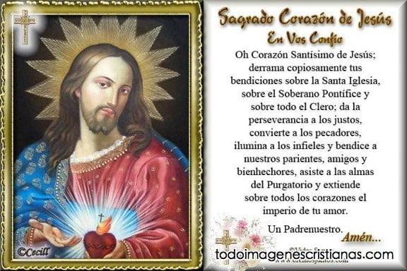 imagenes con oraciones al sagrado corazon